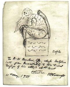 Original sketch of Cthuhlu by H.P Lovecraft via Wikipedia