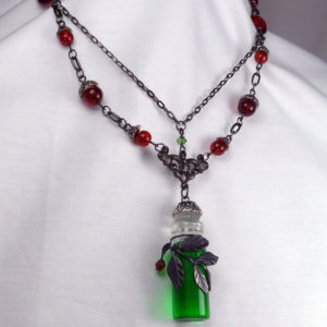 "Absinthe the ""Green Fairy"" Victorian Steampunk necklace N26_3"