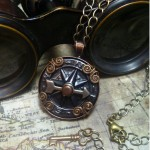 Steampunk Airship Navigator antique compass necklace- N002_4