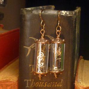 Steampunk earrings Victorian Conundrum E008_04