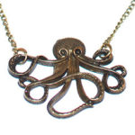 Cthulhu Octopus Necklace - Bronze Tone