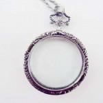 Monocle Necklace - Silver Tone