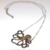 Cthulhu Octopus Necklace - Bronze Tone
