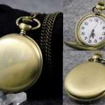 Brass Watch Necklace